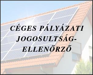 Céges napelem támogatások